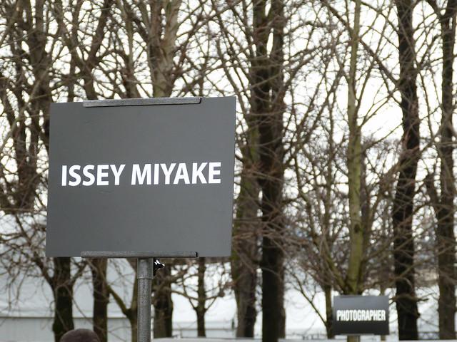 Paris Street Style #PFW #AW2014 Issey Miyake