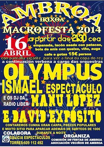 Irixoa 2014 - Macrofesta en Ambroa - cartel