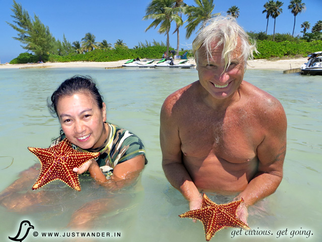 PIC: Starfish Beach... another stop during our Jet Ski Stingray City Tour by Fat Fish Adventures