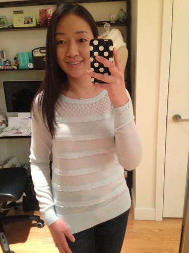 LOFT Scallop ruffle sweater