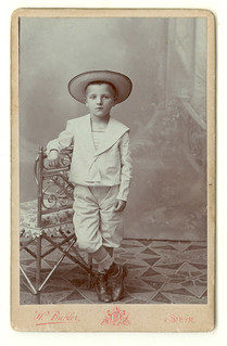 Boy in hat wide-brimmed hat- CDV