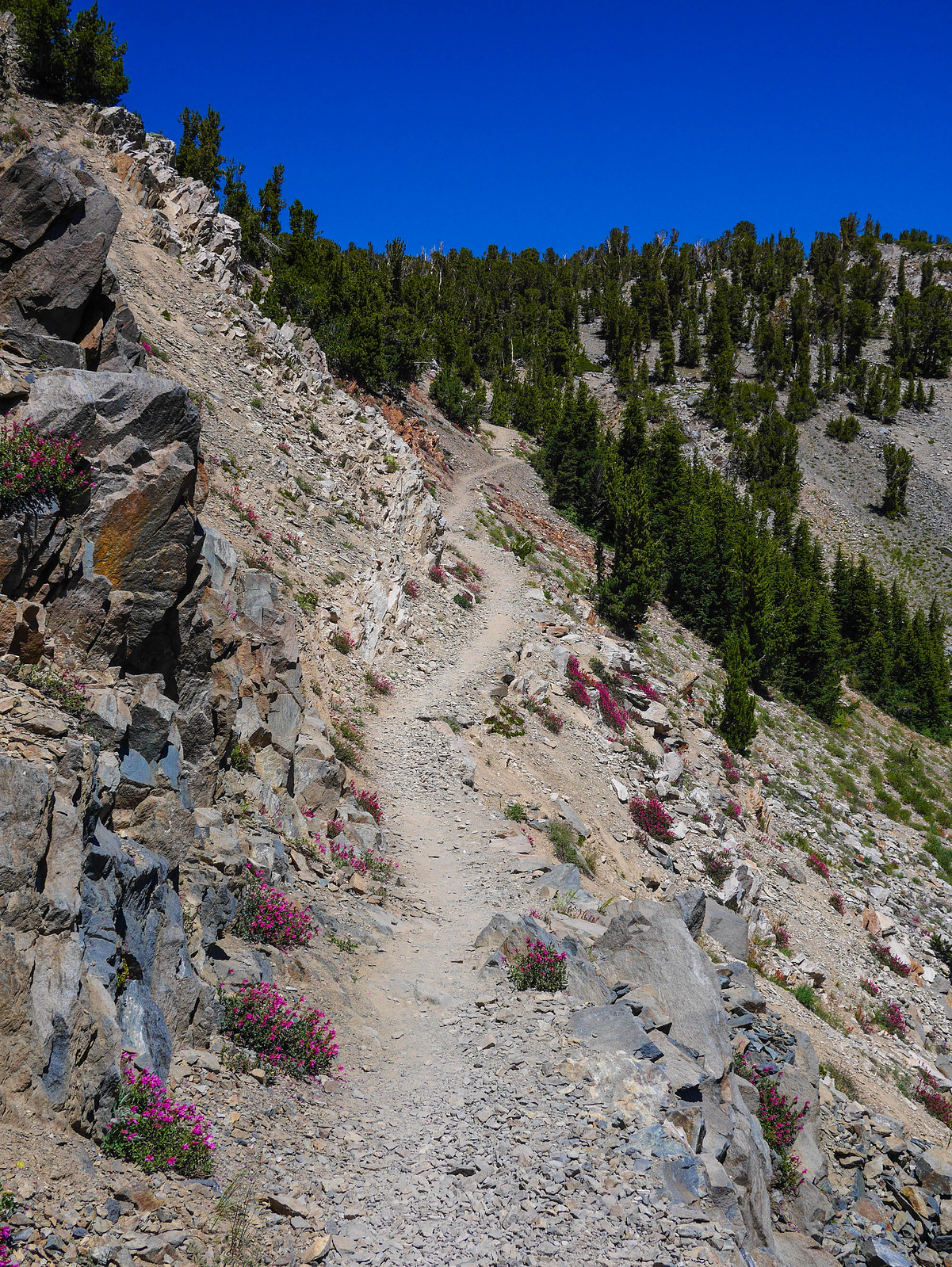Climbing towards Duck Pass