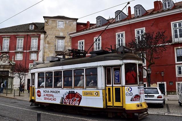 Yellow trams