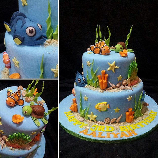 The Finding Nemo Cake by Cla Ire of Angel's  Bakehaus