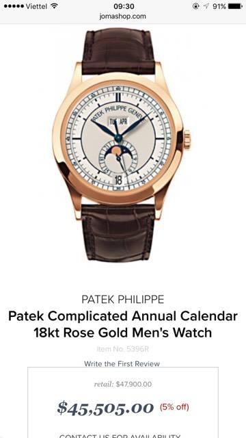 Đồng hồ Patek Philippe 5396R – Vàng hồng 18k – Trăng sao – Size 38.5mm