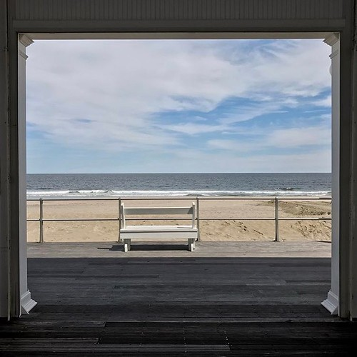 bench chair frame vista smullengada avonbythesea nj oceanview square squareformat iphoneography