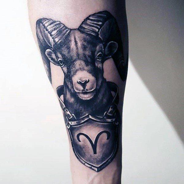 75 Widder Tattoos Fur Manner Zodiac Ink Design Ideen A Photo On