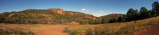 Warren Gorge campground panorama.  Peter Neaum_
