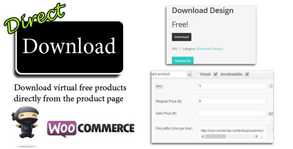 Direct Download v1.16 for Woocommerce