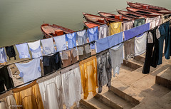 clothes drying - Varanasi, India
