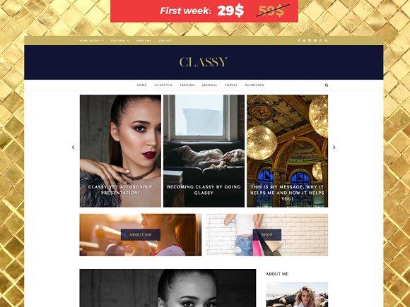 Classy v1.0 – Responsive WordPress Theme