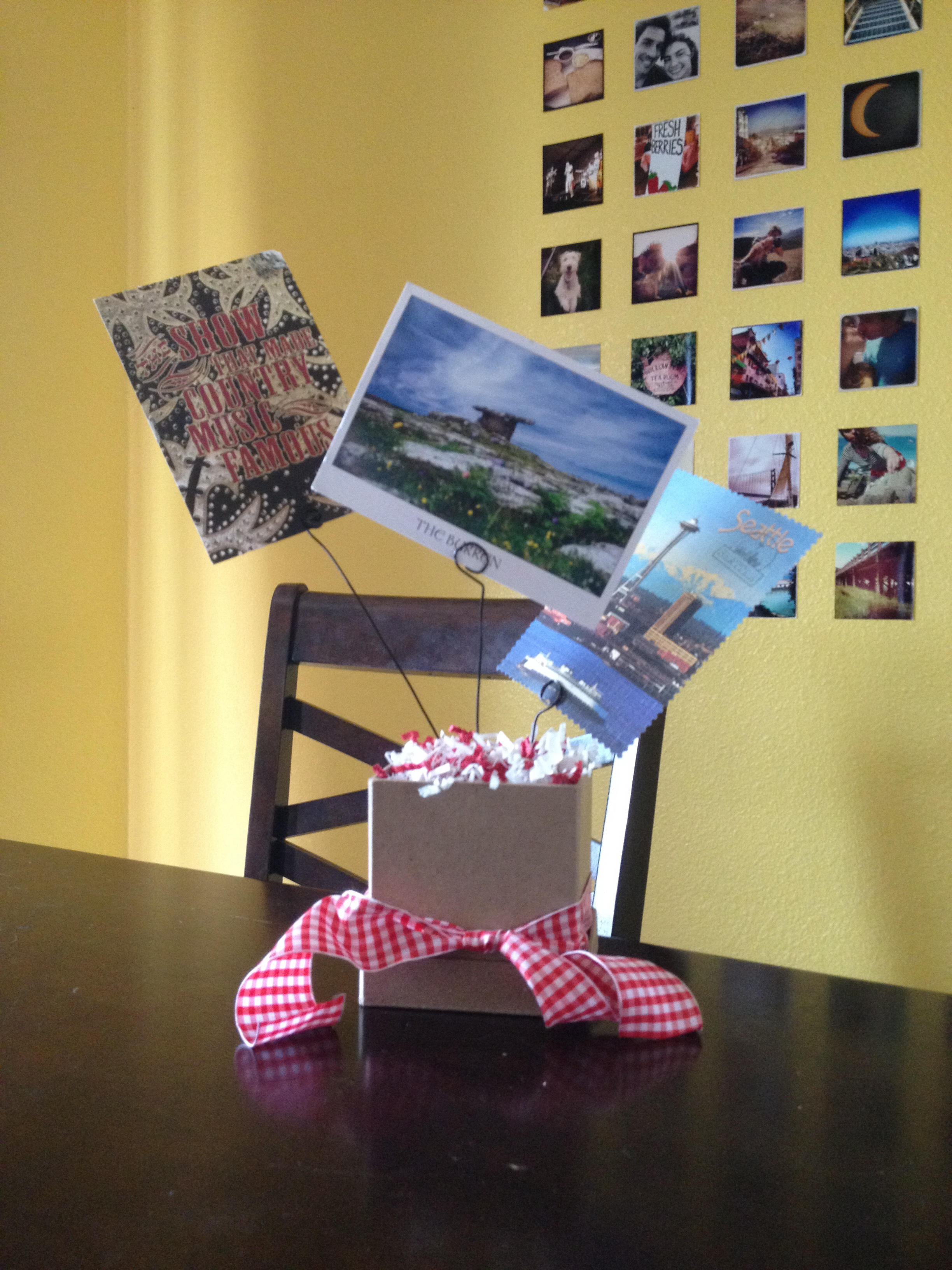 Postcard Centerpieces