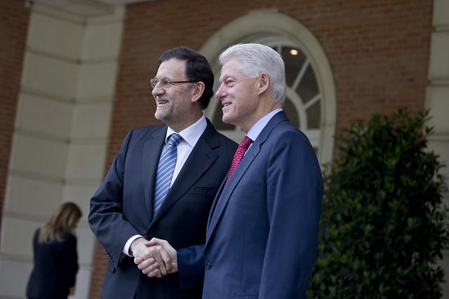 el presidente gobierno recibe a bill clinton flickr