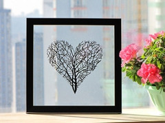 Branches Heart Handmade Original Papercut
