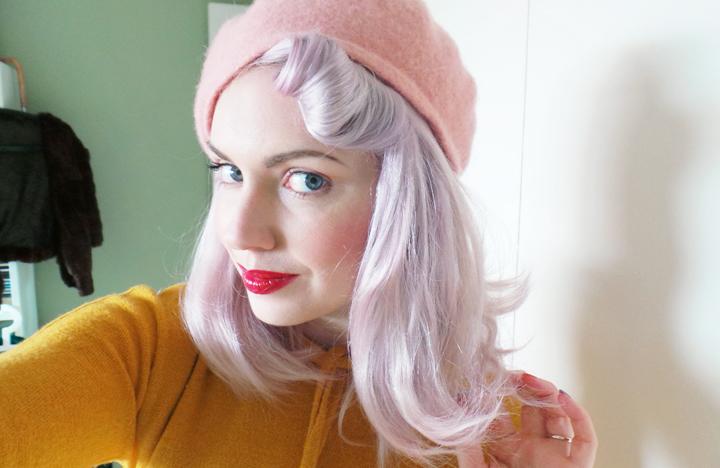 vintage-mustard-dress-pale-pink a