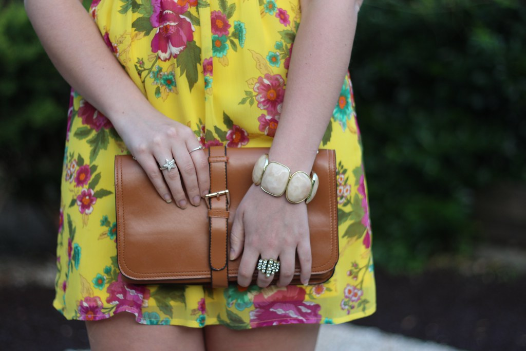 Living After Midnite: Jackie Giardina: Yellow Floral Dress: Fashion Outfit