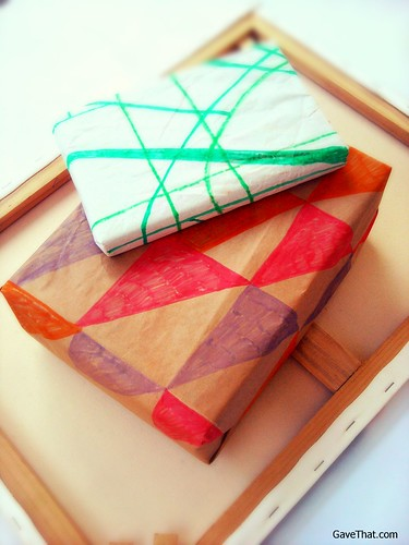 DIY Wrapping Paper Inspired By Kelly Wearstler