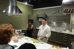 cooking school demo shot