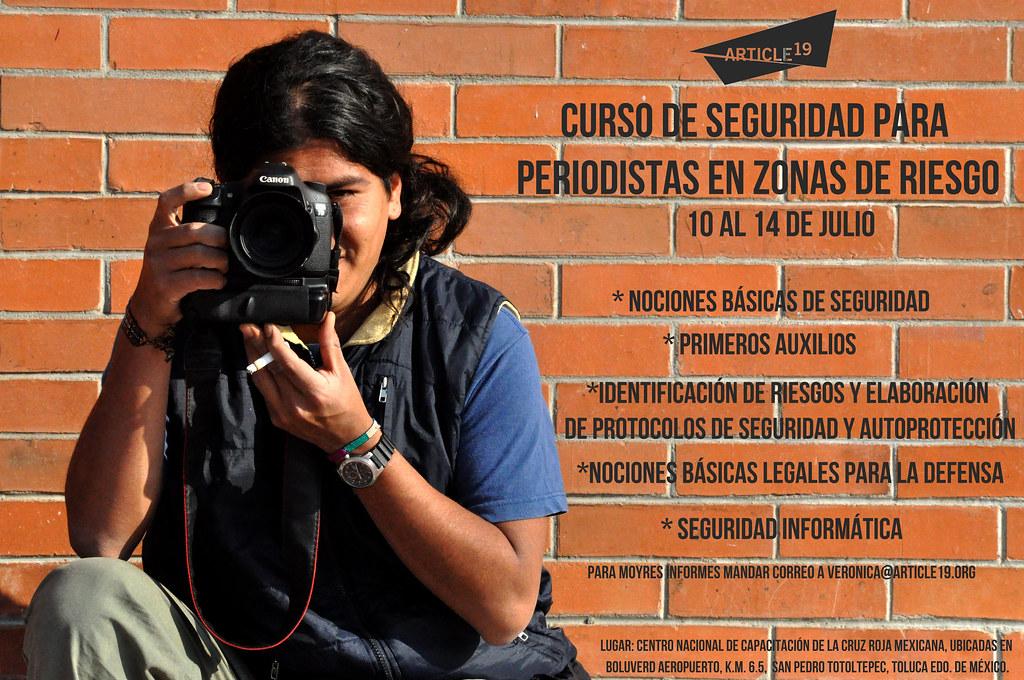 Invitación Curso de Seguridad para periodistas en zonas de riesgo