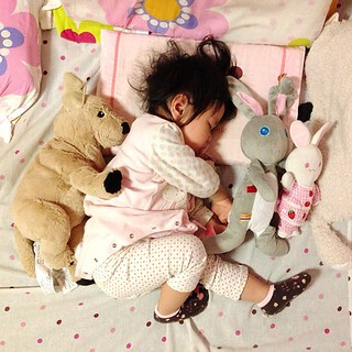 with her good friends#dog #rabbit #kids #babygirl #family #sweetheart #love #melody