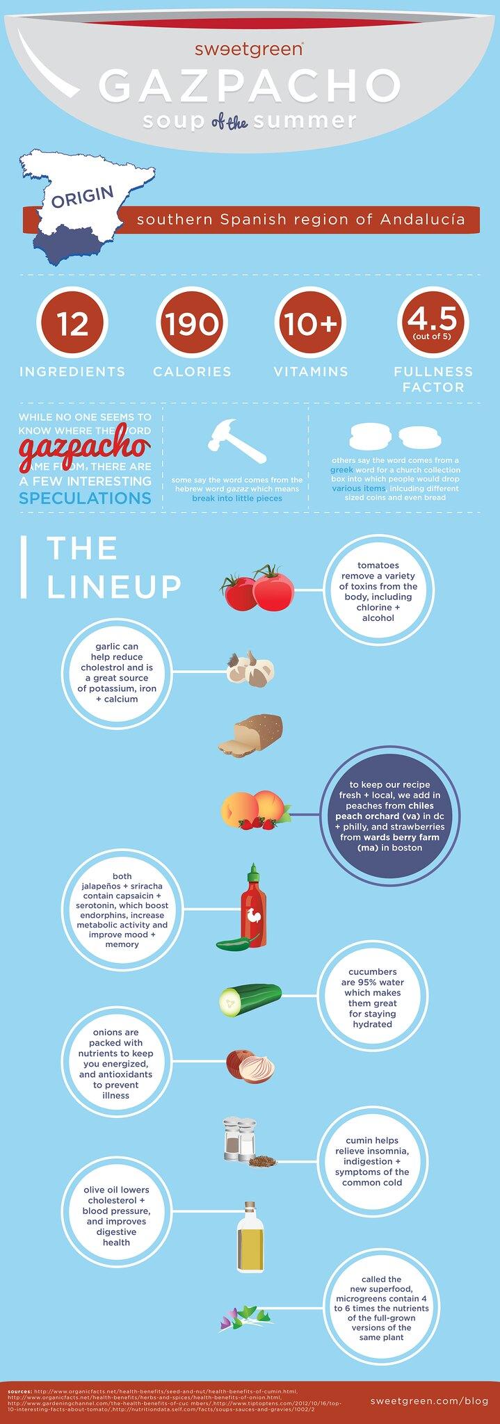 sweetgreen Gazpacho infographic