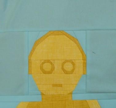 Paper pieced LEGO C3PO