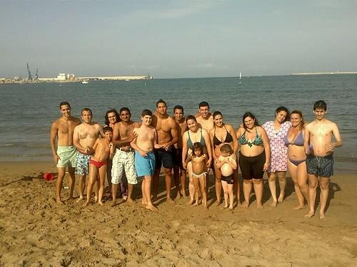 Primer día de playa