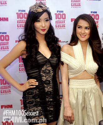 FHM Philippines 2013 - Alodia Gosienfiao and Marian Rivera