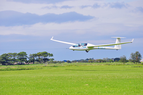 Glider Being Tugged, Ulster Gliding Centre