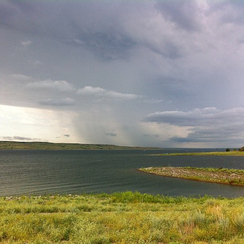 Storm coming over the lake. #nofilter #lakeoahe #missouririver