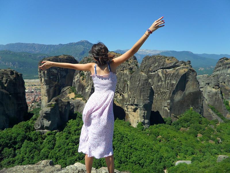 Vistas de Meteora en Grecia.