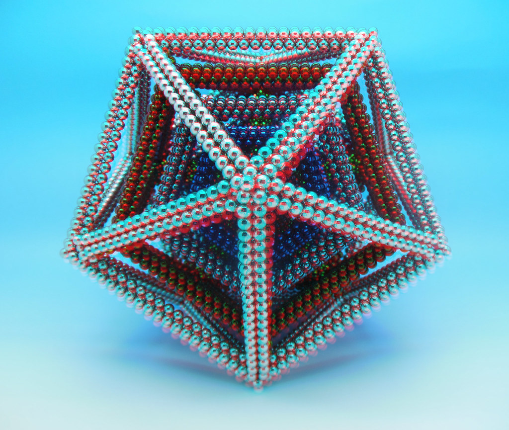 Colorful-3D-Multi-Layered Dodecahedron 3