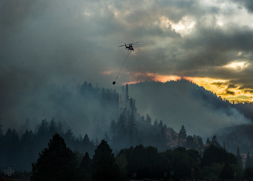 oregon smoke fav20 helicopter wildfire mosier fav10