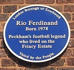 Photo of Rio Ferdinand blue plaque