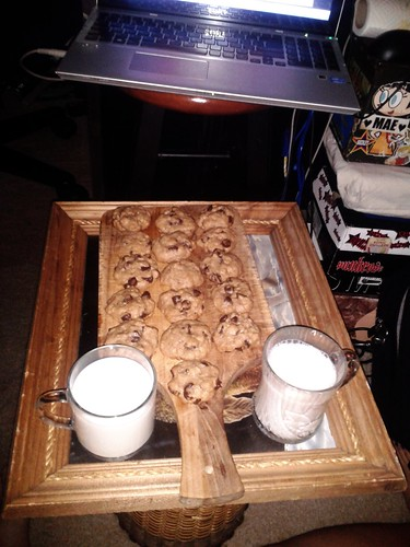 Brown Butter Oatmeal Chocolate Chip Cookies and Milk (July 10 2013)