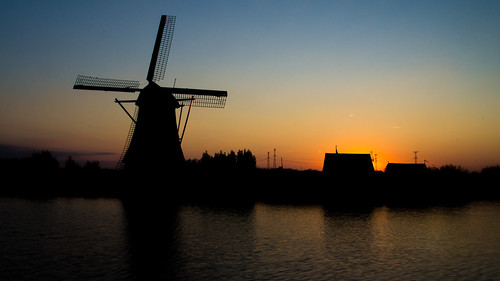 sky water windmill silhouette sunrise de boer landscape golden amazing shot sony leon alpha 55 kinderdijk flickrsfinestimages1