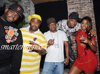 Cam'ron and his Thick wifey JuJu at a club with A$AP Rocky & the A$AP Mob