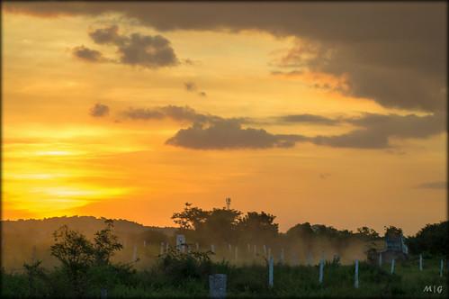 road light sunset sun nature beauty clouds truck sunrise work lens landscape dawn evening day dusk path farm sony hill sigma end vehicle rays dust dslr hyderabad hillock 2870mm pocharam telangana a37 sonyalpha mrigank alpha37 sonya37 mrigankgupta