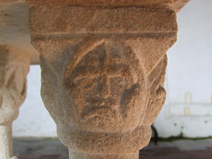 Toftrees font: Norman soldier with helmet (12th Century)