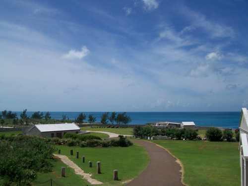 The ocean view from The Bermuda Botanical Gardens.
