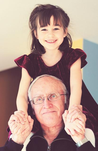 Piggybacks with Grandpa