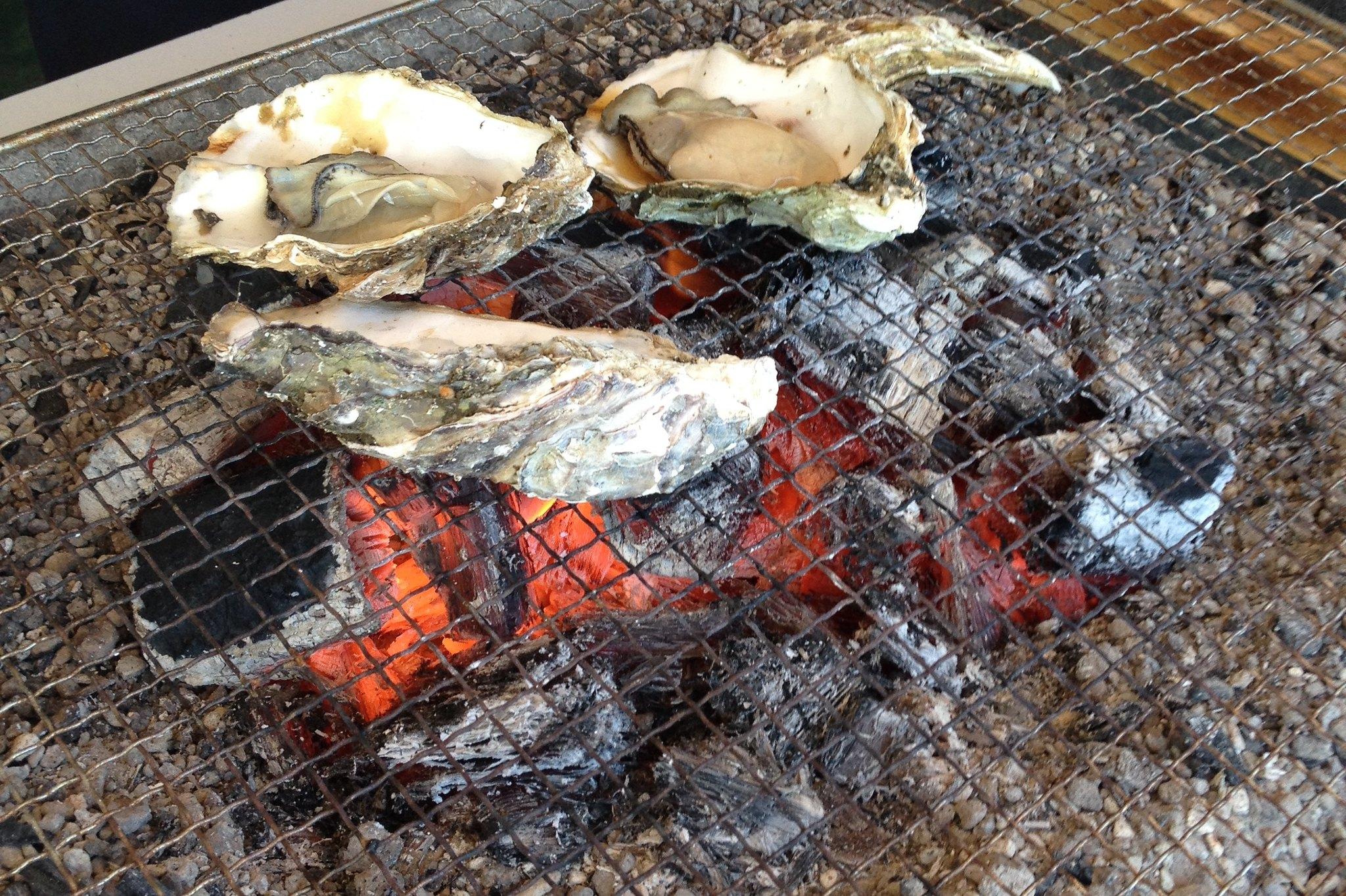 Oyster BBQ at Matsushima, Miyagi