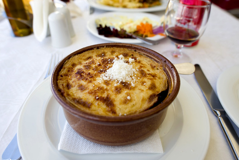 Moussaka - Greek food in Santorini