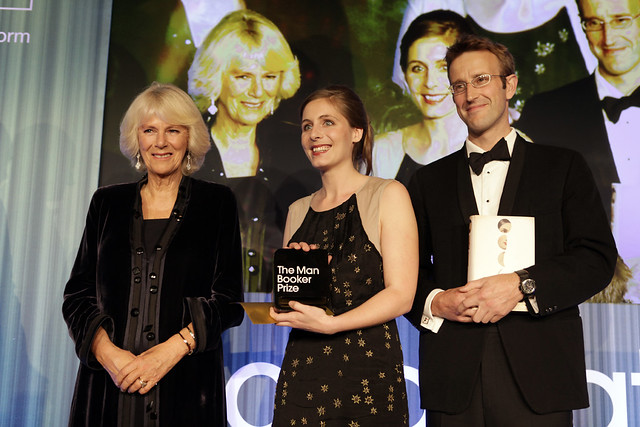 HRH The Duchess of Cornwall, Eleanor Catton and Robert Macfarlane, 2013 Chair of judges - c Janie Airey
