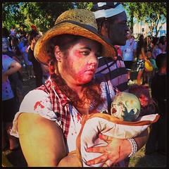 Redneck Zombie Mom and Baby.