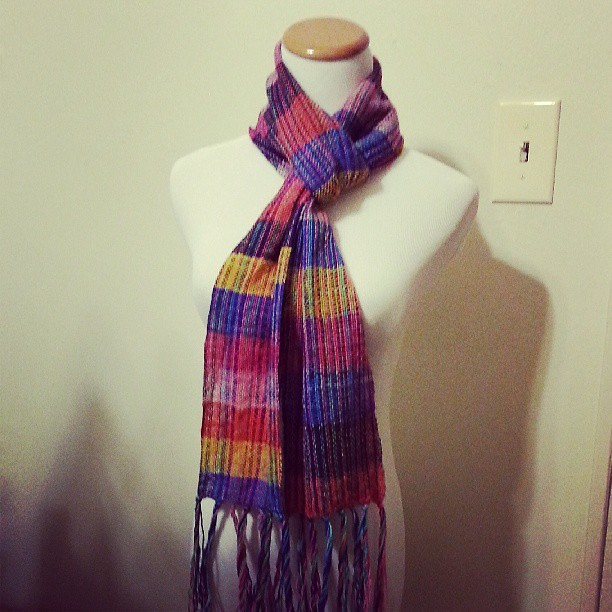 Clown barf scarf #weaving #schacht