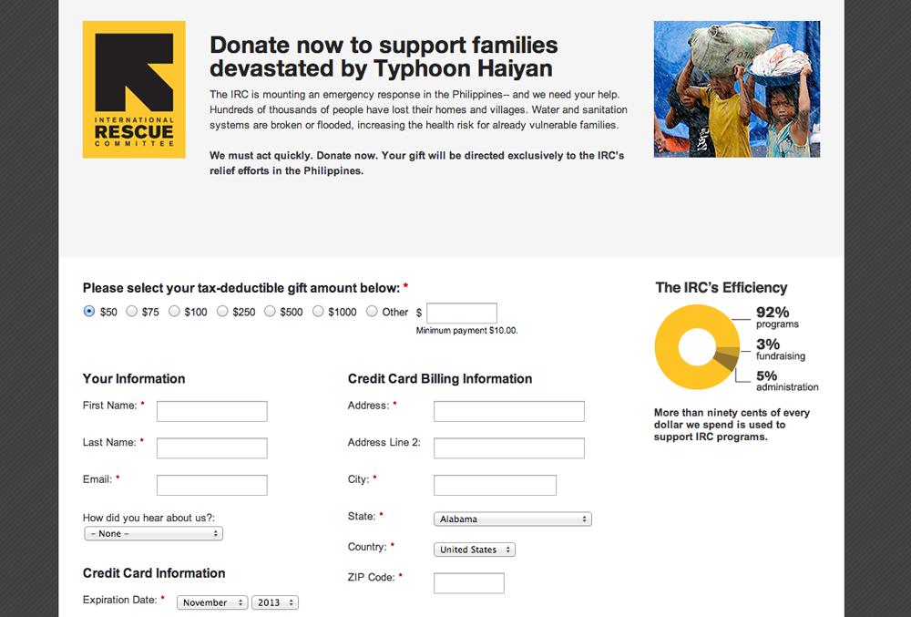 IRC donation