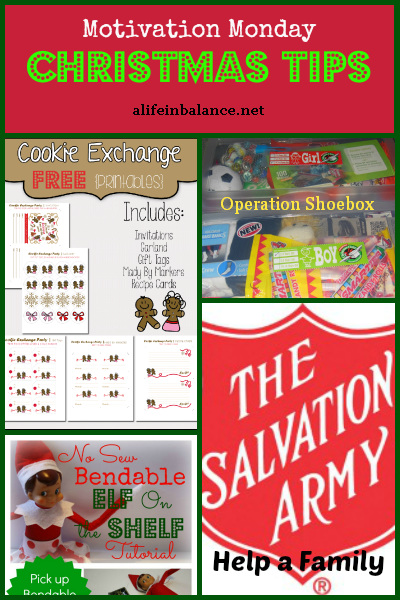 Christmas Tips: Cookie Exchange, Operation Shoebox, Salvation Army, Elf on the Shelf