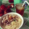 My Thanksgiving Dinner... at freakin' Bakso Planet! Bouncing between psyched and sad...my favorite holiday!
