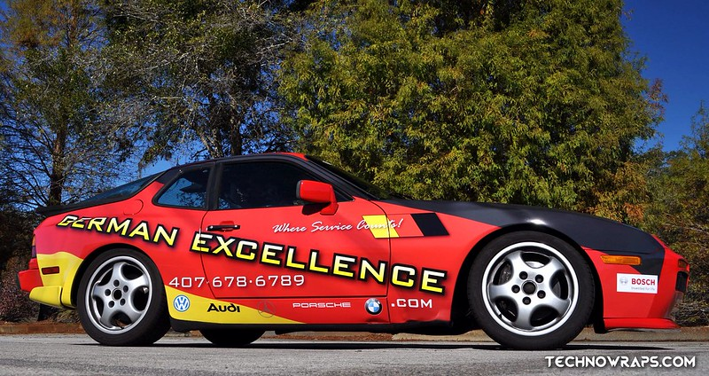 Porsche 944 Turbo car wrap by TechnoSigns in Orlando